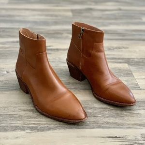 Madewell Charley Leather Boot Bootie 5.5 Block
